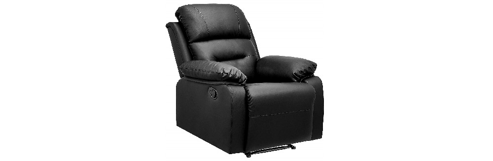 AmazonBasics Classic Leather-Like Extra Padded Recliner Chair Review